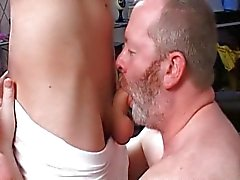 Mature man fucks a boy