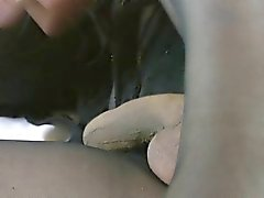 My fun in pantyhose with my dildo v5