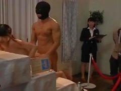 Cute girl squirt orgasm by masked man