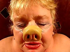 Gedemütigten Fett Granny Schweine