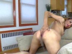 Sexy Skinny Milf shemale in Skirt Masturbation