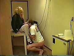 Blond tranny in oral action