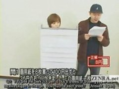 Ondertiteld Japanse quiz show met nudist Japan student