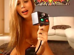 Sexy Blond Sybian Orgasm