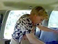 esposa fodido em um carro como filmes marido