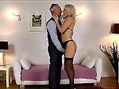 Blonde calze succhiatori più anziani gallo inglesi