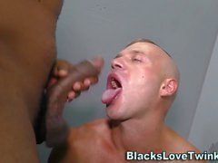 Hunk fucked by black rod