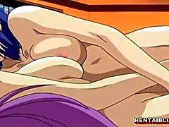 Two delle lesbiche di hentai wetpussy diteggiatura e tette grosse di macinazione