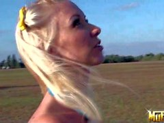 Molly Cavalli and Noelle Aurelia flying kites and having Sex