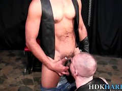 Leather hunk barebacks
