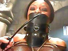 Ebony peituda fica amarrado e torturado neste clipe BDSM quente
