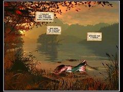 3D Comic: Mermaid Rose. Episodes 3-4