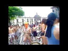 Обнаженная Всемирная велосипеде в Мехико