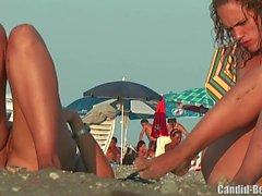 Nudiste Lesbienne Couple Beach Voyeur Spy Cam Vidéo HD