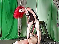 Clamped and cropped by redhead Mistress