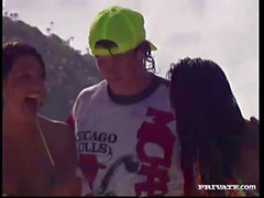 Anale Trio tropicale con il e Gina Zana di Sun