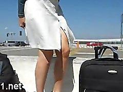 Exposition dans un avion