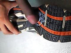 Cum in the boy's sneakers