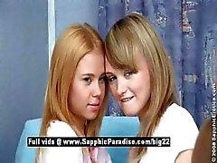 Betânia e Ania e Agathe lésbica adolescente bebês trio orgia