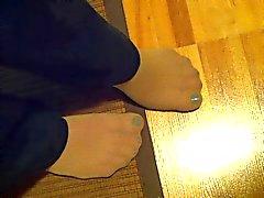 Stata rubata sexy piedi pantyhosed