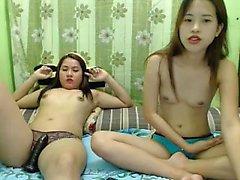Horny японской стороны с лесбиянками милашек