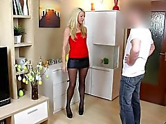naughty-hotties net - sweet blonde pantyhose