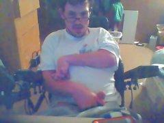 disabled male masturbates to porn