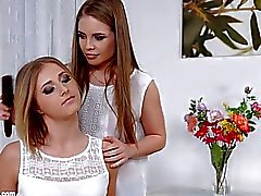 Flower Blossom by Sapphic Erotica sensual erotic lesbian porn with Aria Logan and Alessandra Jane