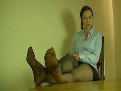 Polnisches Mädchen der in schwarzen Strumpfhosen ( Polska wersja )