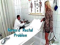 Горячая блондинка сука приходит к доктору часть 3