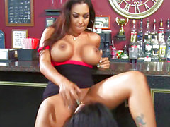 Raunchy Latinas Kiara Mia & Nina Mercedez fucking in bar