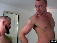 Big dick bear anal sex and cumshot