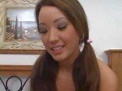 Di POV Asian di Miko sfacciato Perky giovane Facefuck Fisico del Pussy Inculata con del viso