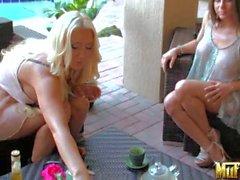 Busty lez babe Rachel Roxxx in see through dress