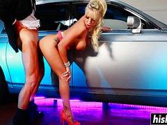 Blonde Carmen craves for a big dick