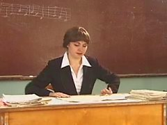Russische leraar en twee jongens