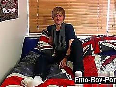 Brent tipi Daley Twink Film bir ultra sevimli kül sarı Cevap emo st