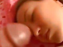 Dormitorio sborrata facciale