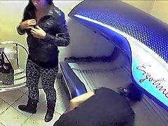 Del voyeur Solarium Girls - desvestirse Nude cámaras escondida