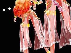 De MMD Touhou cabelo loiro da dança