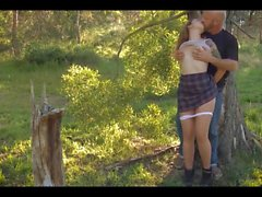Lena & her Living Sex Toy go to the woods for a ride
