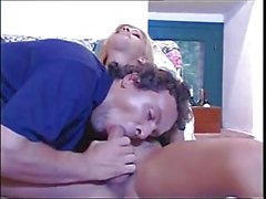 Blonde shemale drilled by man
