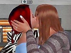 Las lesbianas calientes de cojan con de strapon