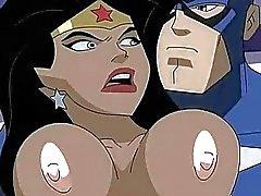 Superhero Порно Чудо-женщина С. Капитаном Америкой