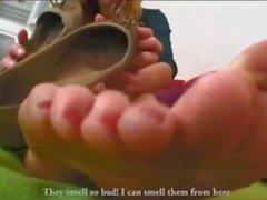 Sexy Milf Mature Feet (Flats Dangling)