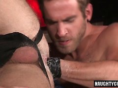 Hairy wolf fisting with cumshot