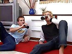 Sexy Blonde Gay Pleasures His Boy