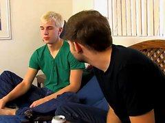Blond twink ramming his cute boyfriend after fellatio
