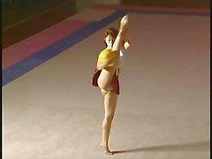 Gimnasta de Nudista Japanese
