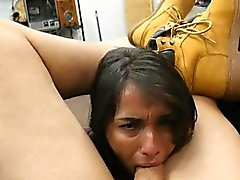 Ofiste Ofiste Çok Kirli Brunette Sucking Dick